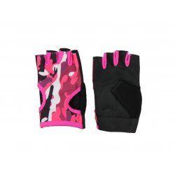 Fitness handschoenen dames Easy Drifit camo roze - Maat: XS