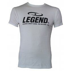 t-shirt wit Slimfit Legend - Maat: XL