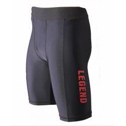 Legend DryFit short Zwart/Rood - Maat: XL